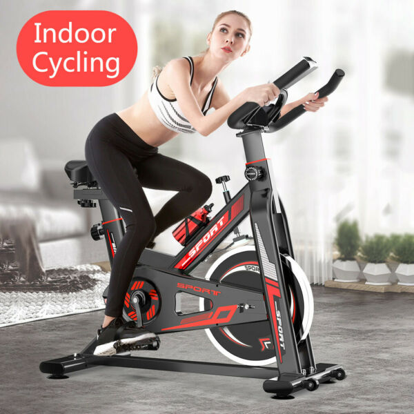 Indoor Cycling Bike Exercise Spin Bicycle Stationary Bikes w Monitor Display AA $168.88