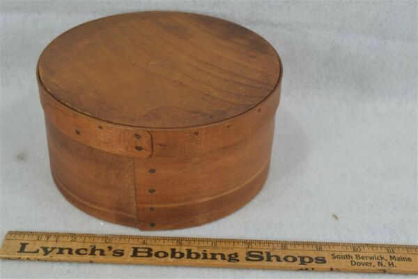 antique pantry box bent wood round storage 7.5 x 3 5 8 original 19th c 1800 vg
