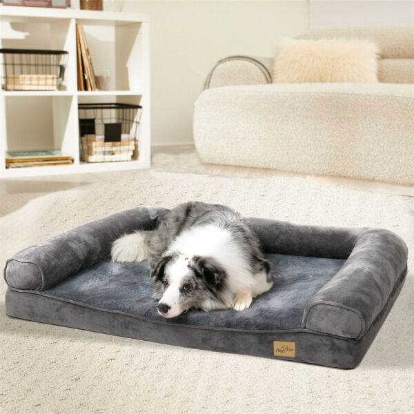 Heavy Duty Large Orthopedic Donut Dog Bed Round Warming with Removable Covers $29.91