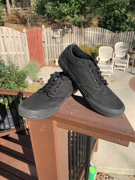 Vans Off Wall Lace Low Top Skateboard Shoes All Black 721461 Sneakers Mens 9.5 $24.10