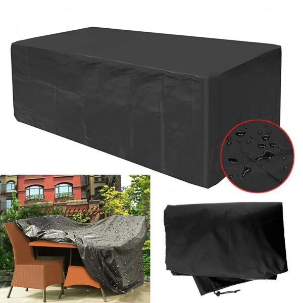 Outdoor Patio Furniture Covers 600D Oxford Polyester Extra Furniture Set E $53.61