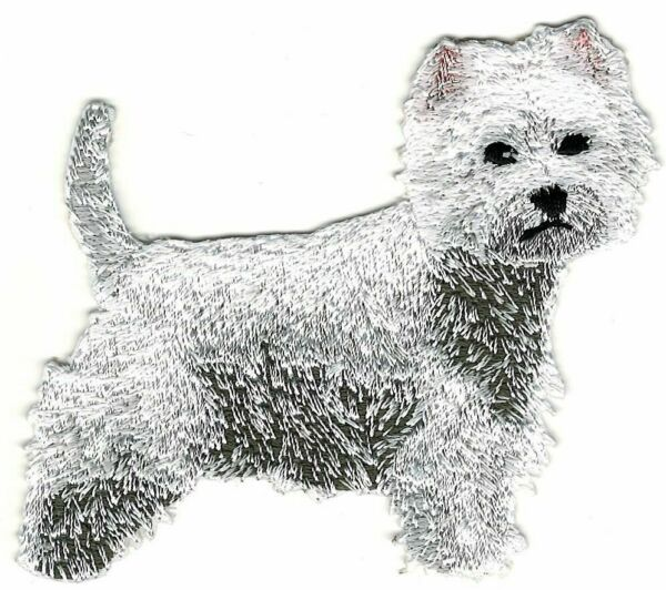 Westie Westy West Highland White Terrier Dog Breed Embroidered Patch $4.99
