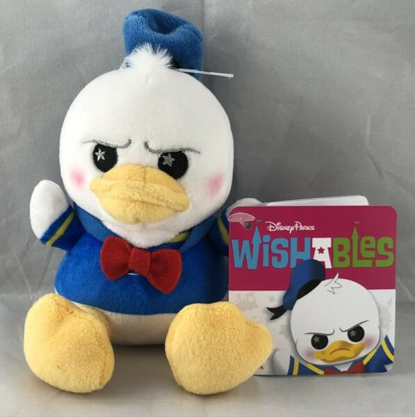 Disney Parks Wishables Donald Duck Plush LR NEW $12.99