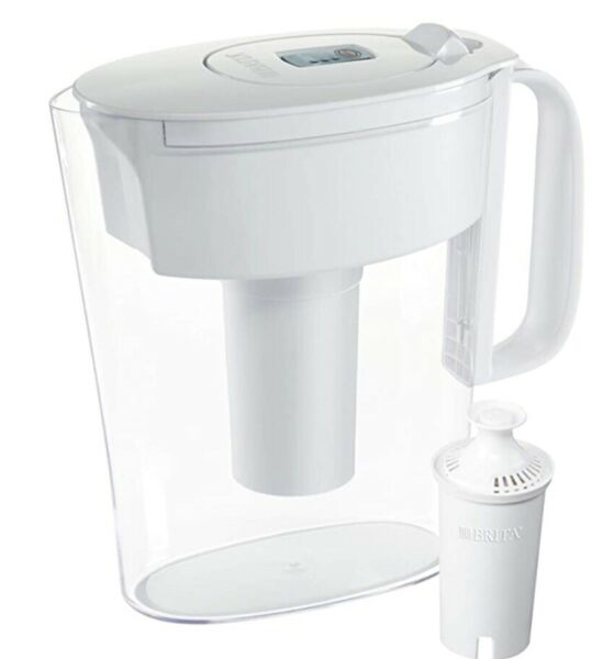 Brita Water Pitcher with 1 Filter BPA Free 5 Cup White