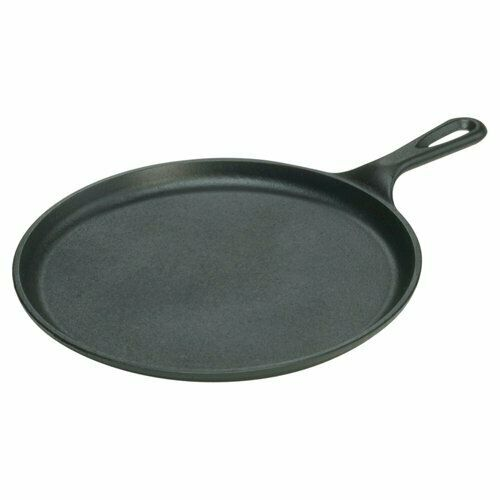 Pre Seasoned 10.5 Inch Round Pan Bbq Cast Iron Griddle with Easy Grip Handle