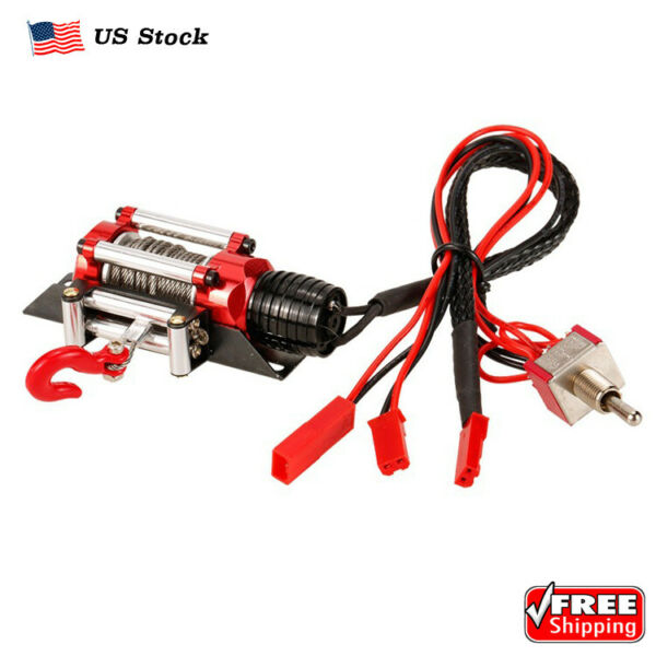 MarsRC Working Electric Metal Winch For 1 10 RC Crawlers TRX4 SCX10 $23.99