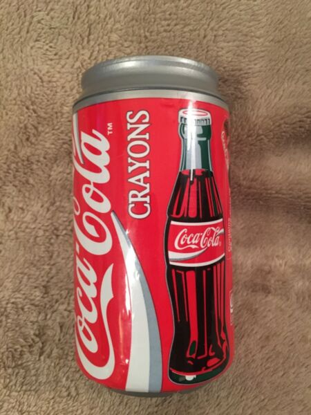 COCA COLA Plastic Coke Can with 36 Crayons NEW