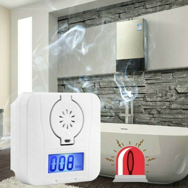 CO Smoke Carbon Monoxide Detector Gas Audio Alarm Warning High Alert LCD Display $7.09