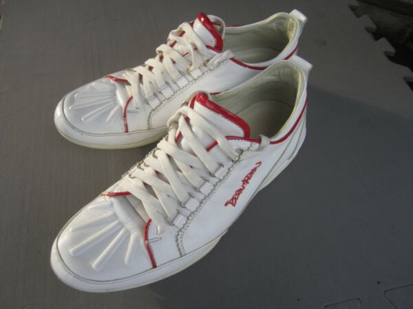Dsquared2 men#x27;s white leather sneakers size 10 US 42 EUR $32.00