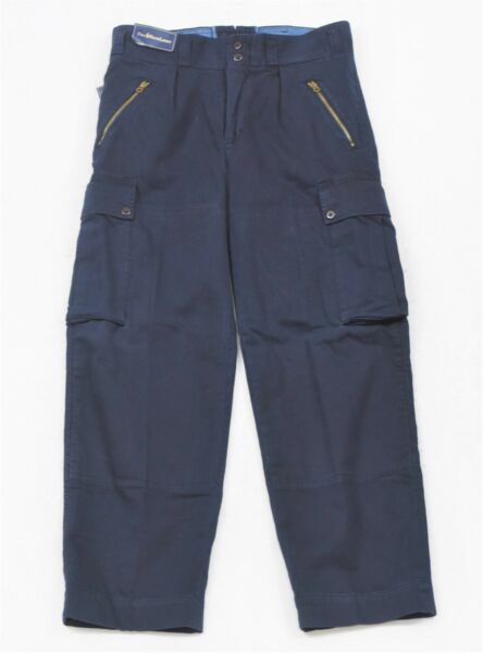 Polo Ralph Lauren Winter Sports Cargo Pants Navy Vintage 32 30 NWT Rare