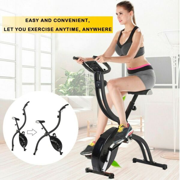 Folding Exercise Bike Magnetic Stationary Indoor Cycling Cardio Home Gym Workout $108.99