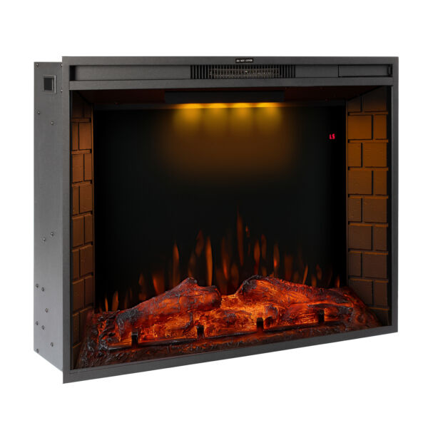 28#x27;#x27; 30#x27;#x27; 33#x27;#x27;Electric Fireplace Insert Heater Recessed Wall Mounted Remote