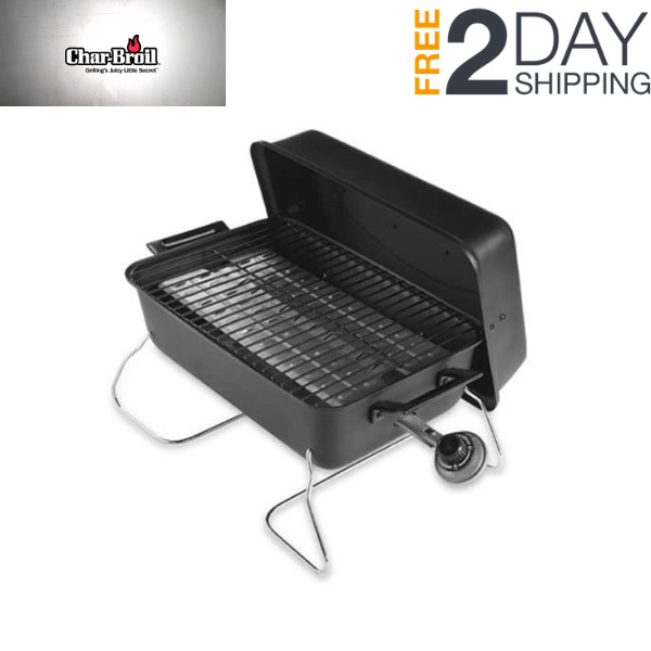 Portable Liquid Propane Gas Grill Steel Durable Foldable Tabletop For Camping