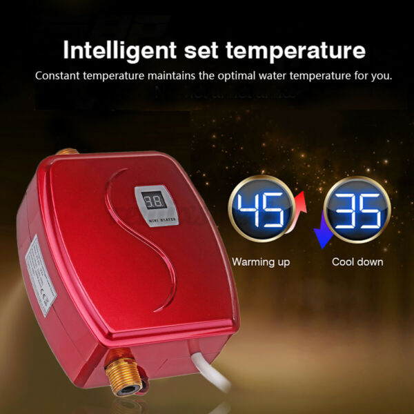 3000W Electric Tankless Instant Hot Water Heater Kitchen Washing Faucet Tap US $52.99