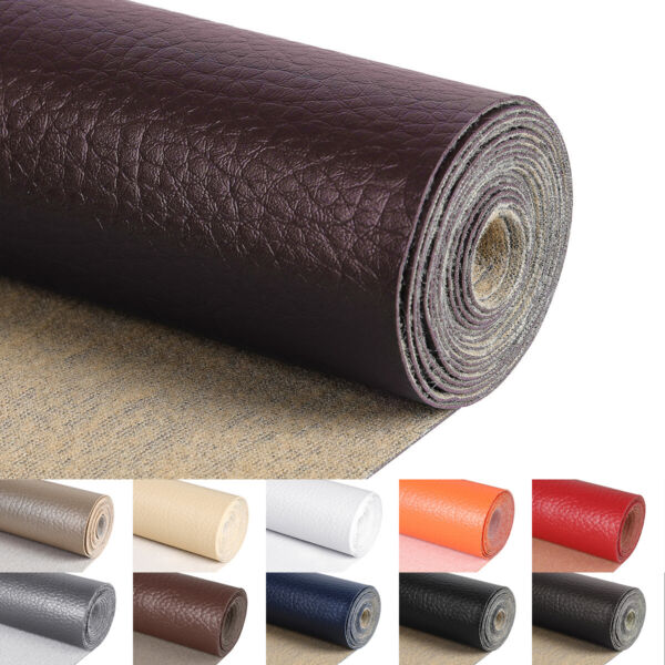 5 Yards 54quot;Wide Vinyl Faux Leather Fabric Auto Upholstery Marine Pleather Fabric