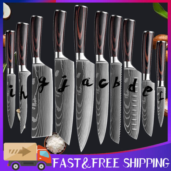 Stainless Kitchen Chef Knife Steel Japanese Damascus Pattern Sharp Cleaver Knife