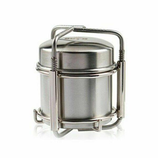 Alcohol Stove Burner For Backpacking Hike Camping Outdoor Picnic Stainless Steel