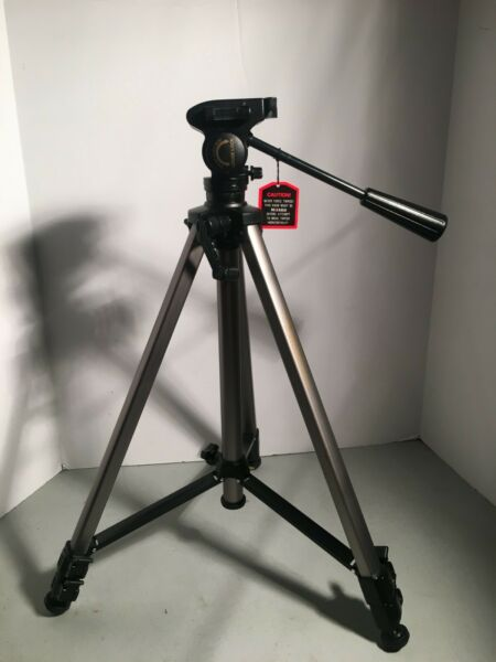 Tripod Quantum International ST 88 Fluid Tripod 60quot; missing release plate *1435*