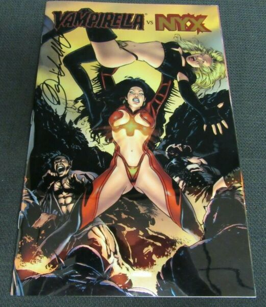 Vampirella Vs. Nyx #1 Chromium Signed by Louis Small Jr. With Sketch Board BB291 $32.95