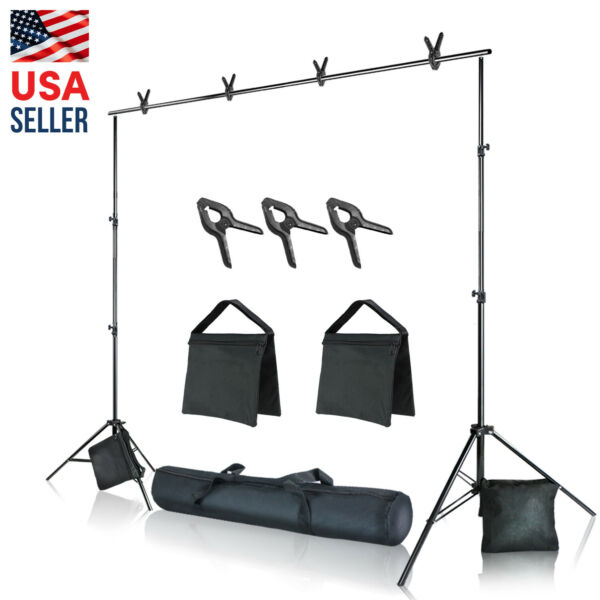 10 feet. Backdrop Stand Kit for Photography Background Support Kit Refurbished
