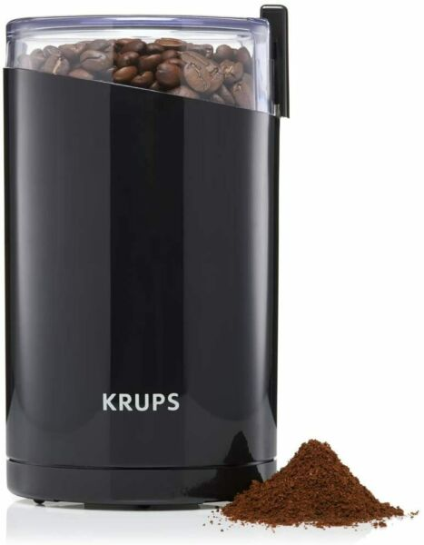 F203 Electric Spice and Coffee Grinder with Stainless Steel Blades 3 oz 85 g