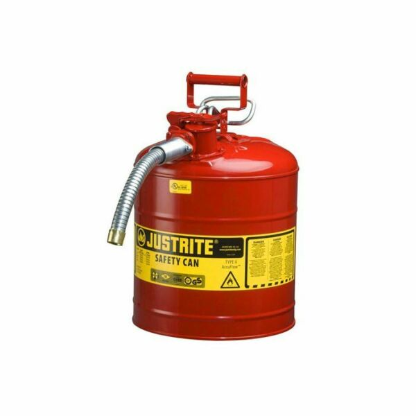 New Justrite Type II 7250130 Gas Can Red 5 Gallon