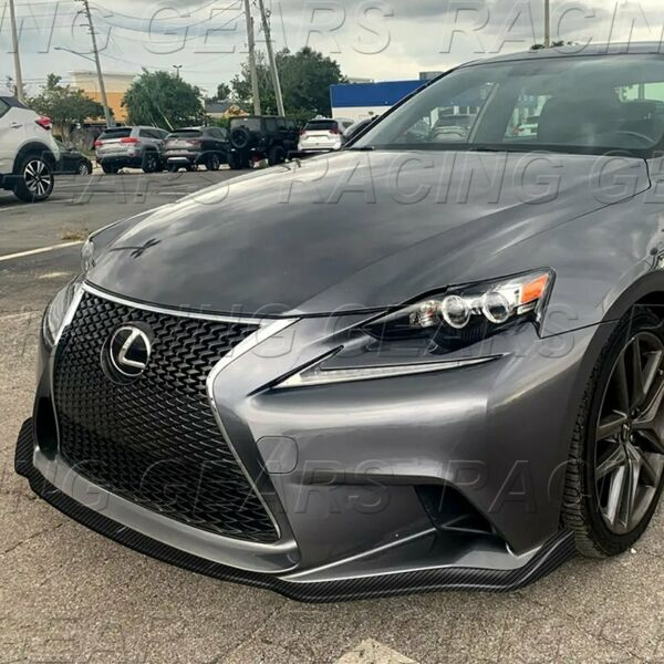 FIT 2014 2016 LEXUS IS250 IS350 F SPORT CARBON STYLE FRONT BUMPER BODY KIT LIP