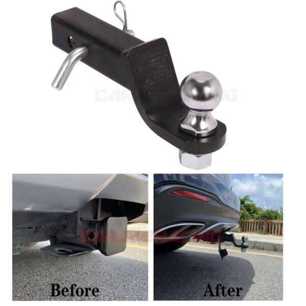 2quot; Drop Hitch Chrome Ball Mount Trailer Hitch 2in Receiver Heavy Duty Tow Truck $19.99