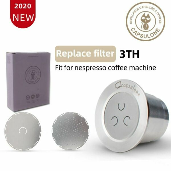 Coffee Capsule Pod Stainless Steel Capsule Compatible Nespresso Refillable Reuse