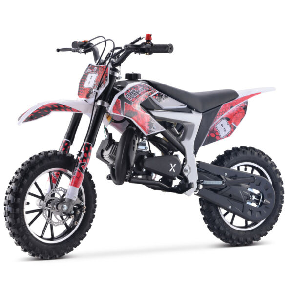 XtremepowerUS Mini Dirt Bike Gas Power 2 Stroke 50cc Motorcycle Beginner Red $359.95