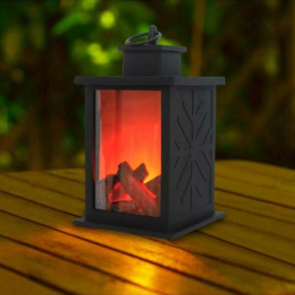 Lantern Flame Led Halloween Lamp Light Decor Hanging Party Ghost Hand Fireplace