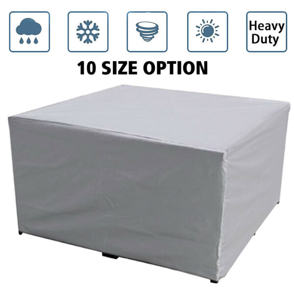 Heavy Duty Waterproof Garden Patio Furniture Cover Outdoor Table Cover 10 Size