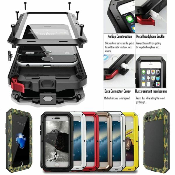 Shockproof Waterproof Aluminum Metal Cover Case For Samsung Galaxy Note 20 Ultra