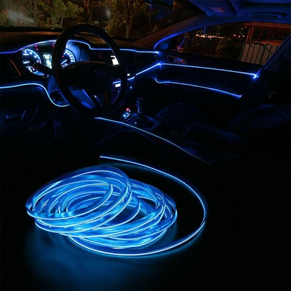 2m Blue LED Car Interior Decorative Atmosphere Wire Strip Light Accessories US $8.99