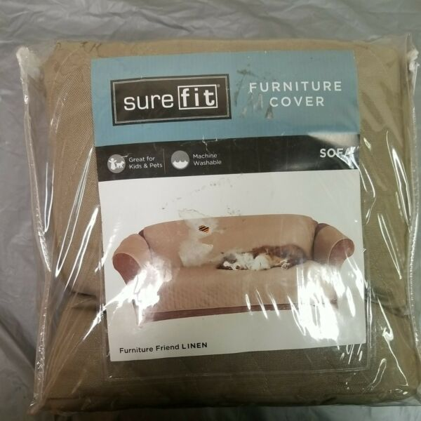 Surefit Sofa Pet Furniture Cover LINEN New Furniture Friend One Piece FREE SHIP $29.95