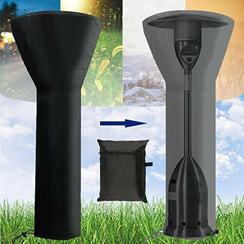 Patio Heater Covers Waterproof with Zipper Standup Round Outdoor Heater