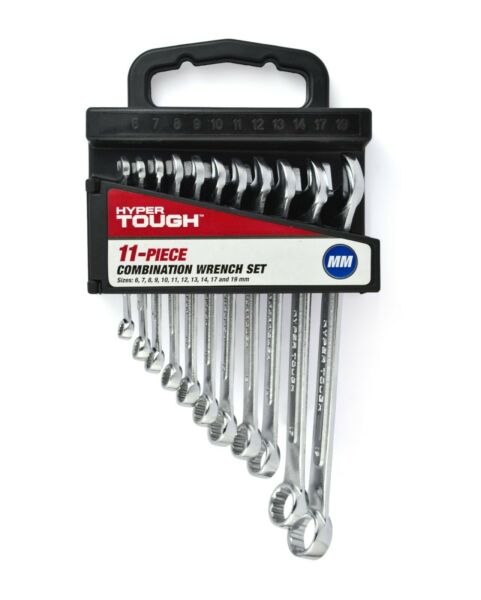HYPER TOUGH 11 Piece Combination Wrench Set Metric tool craftsman FREE SHIPPING