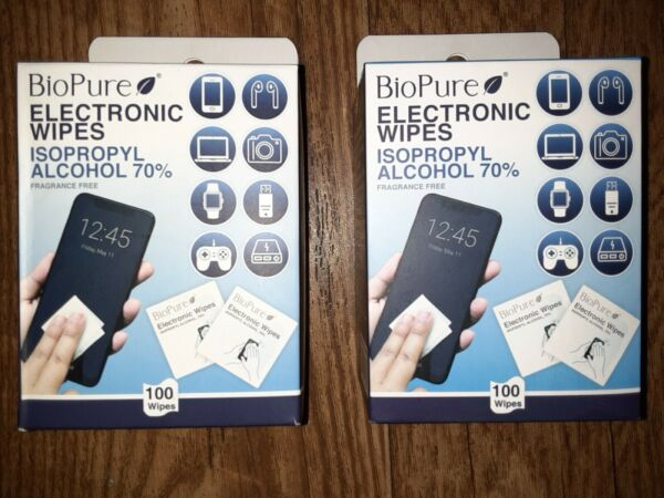 Bio Cure Electronic Wipes ISOPROPYL ALCOHOL WIPES 70%. 100 Wipes $8.00