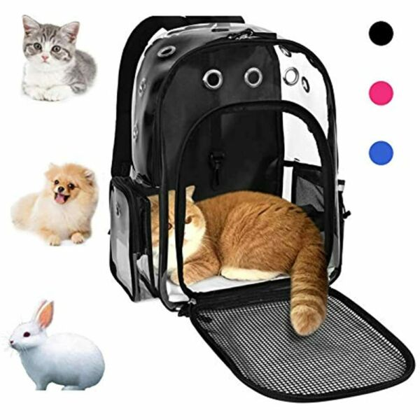 Pet Cat Dog Backpack Carrier For Rabbit Small Animal Breathable Clear Designed $39.29