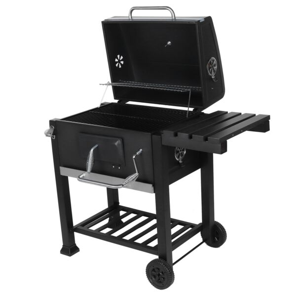 Heavy Duty 45quot; Charcoal Grill BBQ Barbecue Smoker Outdoor Pit Patio Cooker Black