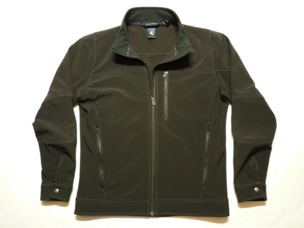 Men#x27;s Kuhl Gotham Gray Impakt Soft Shell Fleece Lined Wind Proof Jacket Size M $59.95