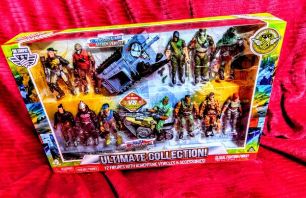 """THE CORPS ULTIMATE COLLECTION TIME CRISIS 12 FIGURES 3.75"""" amp; 2 VEHICLESAccessor"""