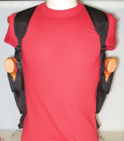 Two Gun Double Shoulder Holster for 4quot; Barrel Revolver amp; 2quot; Barrel Revolver