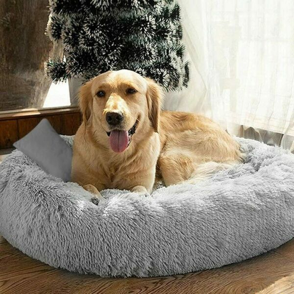Long Plush Dog Beds For Large Dogs Pet Products Cushion Super Soft Fluffy Square $12.88