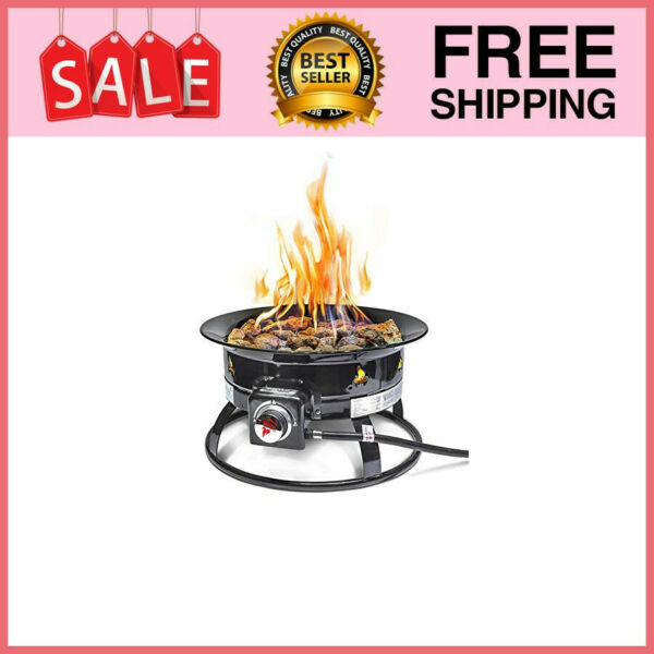 Firebowl 823 Outdoor Portable Propane Gas Fire Pit 19 Inch Diameter 58000