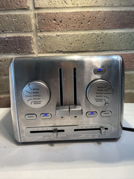 Cuisinart Stainless Steel 4 Slice Toaster w Shade Control RBT 1285PC FREE SHIP