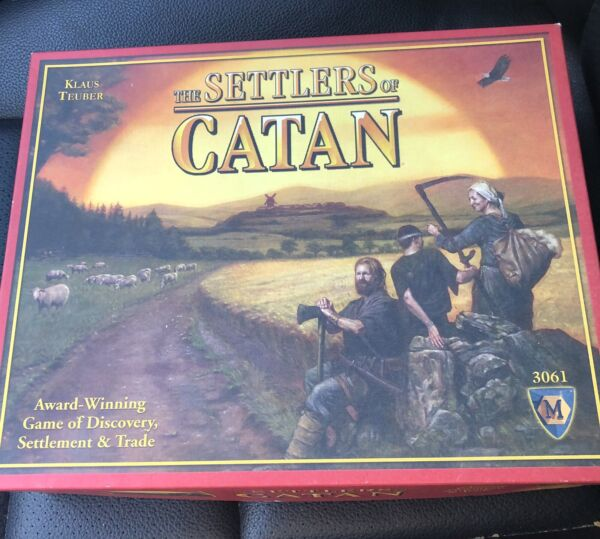 The Settlers of Catan Board Game Open Box
