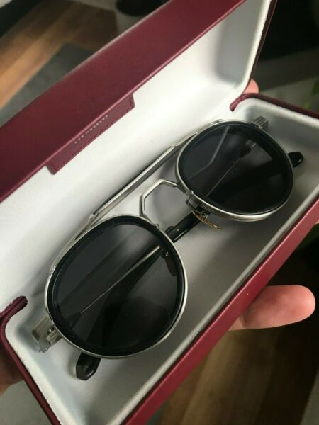 Jacques Marie Mage silver Cassady sunglasses Circa collection 161 400 Unused