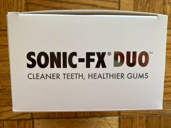 Sonic FX Duo Electric Toothbrushes White Black With Replacement Brush Heads $43.00