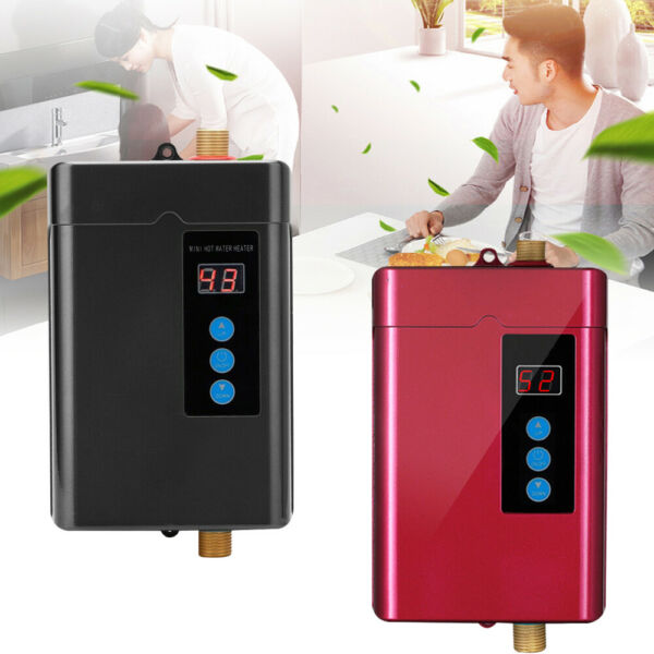 3000W Instant Electric Hot Water Heater Tankless Kitchen Bathroom Shower 110V $77.00